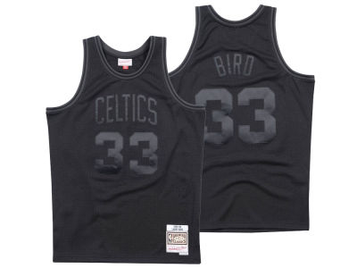 Boston Celtics Mitchell & Ness NBA Men's Blackout Collection Jersey
