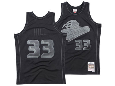Detroit Pistons Mitchell & Ness NBA Men's Blackout Collection Jersey