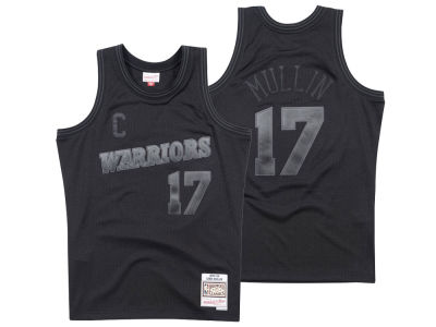 Golden State Warriors Mitchell & Ness NBA Men's Blackout Collection Jersey