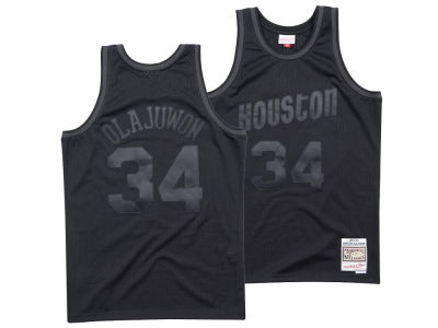 Houston Rockets Mitchell & Ness NBA Men's Blackout Collection Jersey