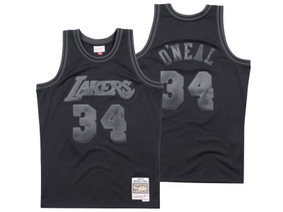 Los Angeles Lakers Mitchell & Ness NBA Men's Blackout Collection Jersey