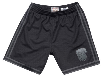 New York Knicks Mitchell & Ness NBA Men's Blackout Collection Shorts