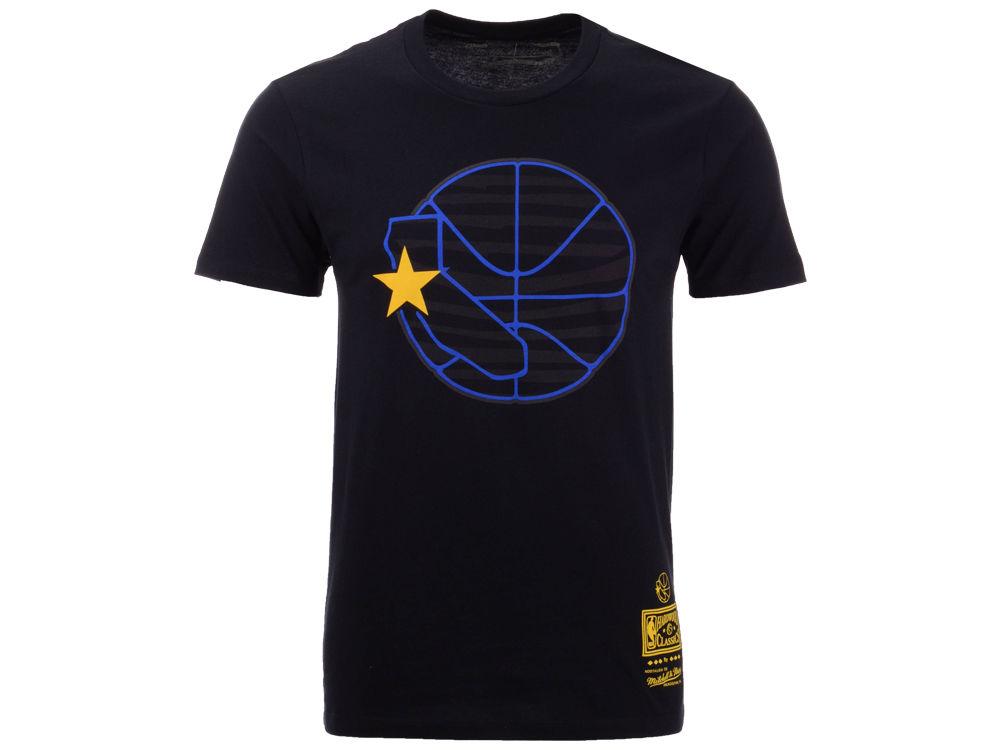7e227d19e Golden State Warriors Mitchell   Ness NBA Men s Blackout Collection T-Shirt