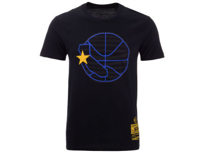 Golden State Warriors Mitchell & Ness NBA Men's Blackout Collection T-Shirt