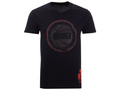 Houston Rockets Mitchell & Ness NBA Men's Blackout Collection T-Shirt
