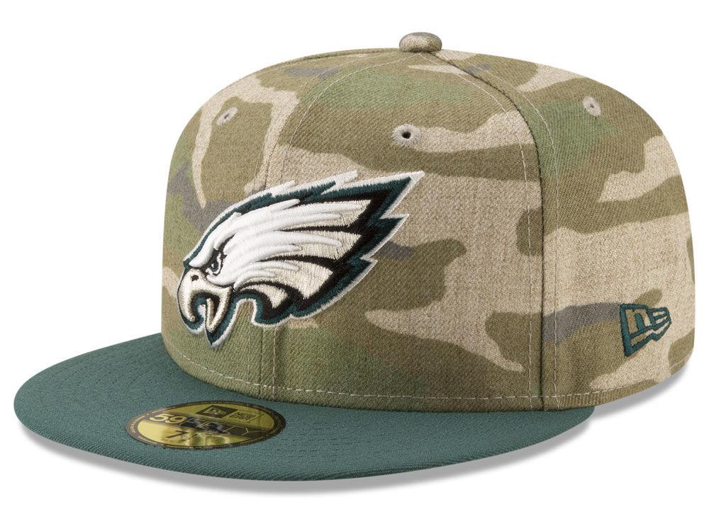 de50ff0750a Philadelphia Eagles New Era NFL Vintage Camo 59FIFTY Cap