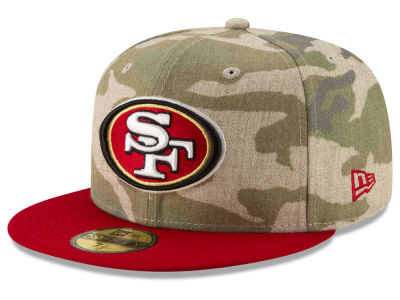 San Francisco 49ers New Era NFL Vintage Camo 59FIFTY Cap cf3fa0098eb