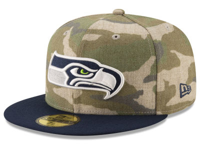 Seattle Seahawks New Era NFL Vintage Camo 59FIFTY Cap