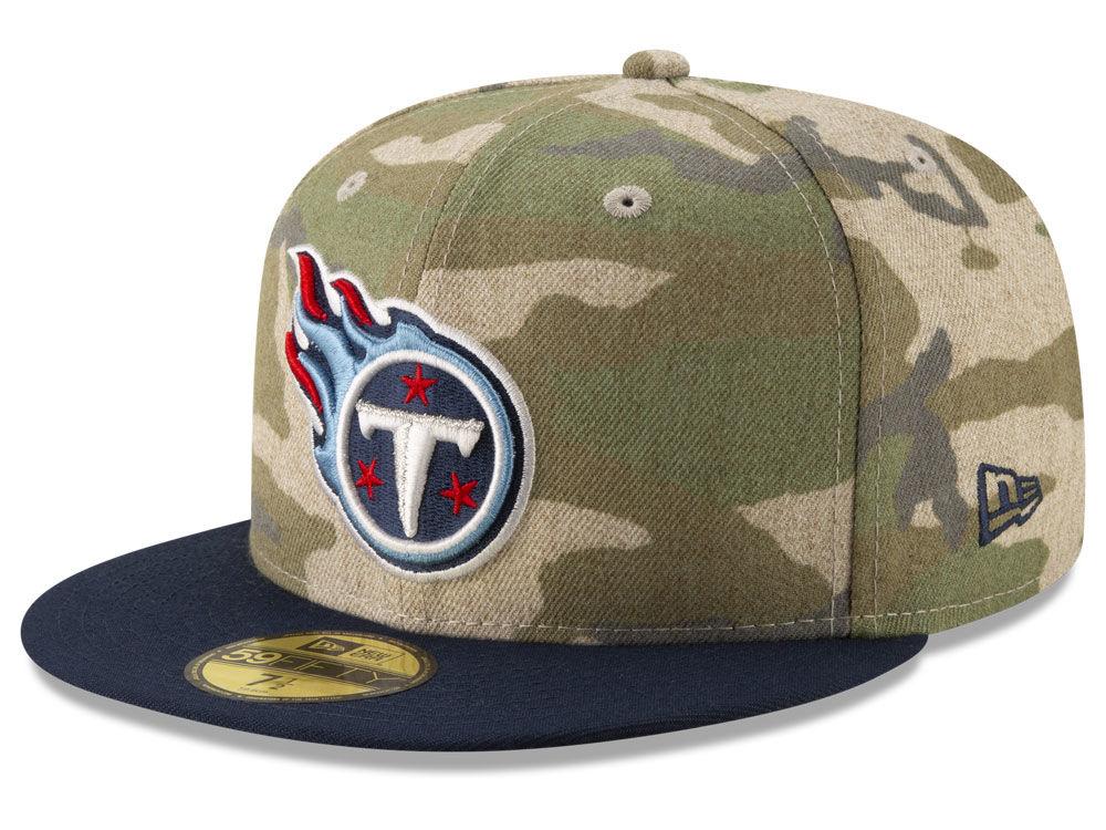 Tennessee Titans New Era NFL Vintage Camo 59FIFTY Cap  b00f3fd9853