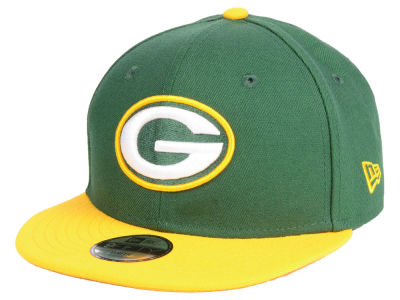 Green Bay Packers New Era NFL Kids Two Tone 9FIFTY Snapback Cap