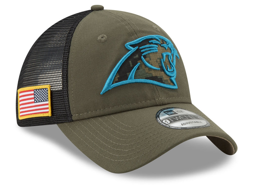 Carolina Panthers New Era NFL Camo Service Patch 9TWENTY Trucker Cap ... ae17c4335