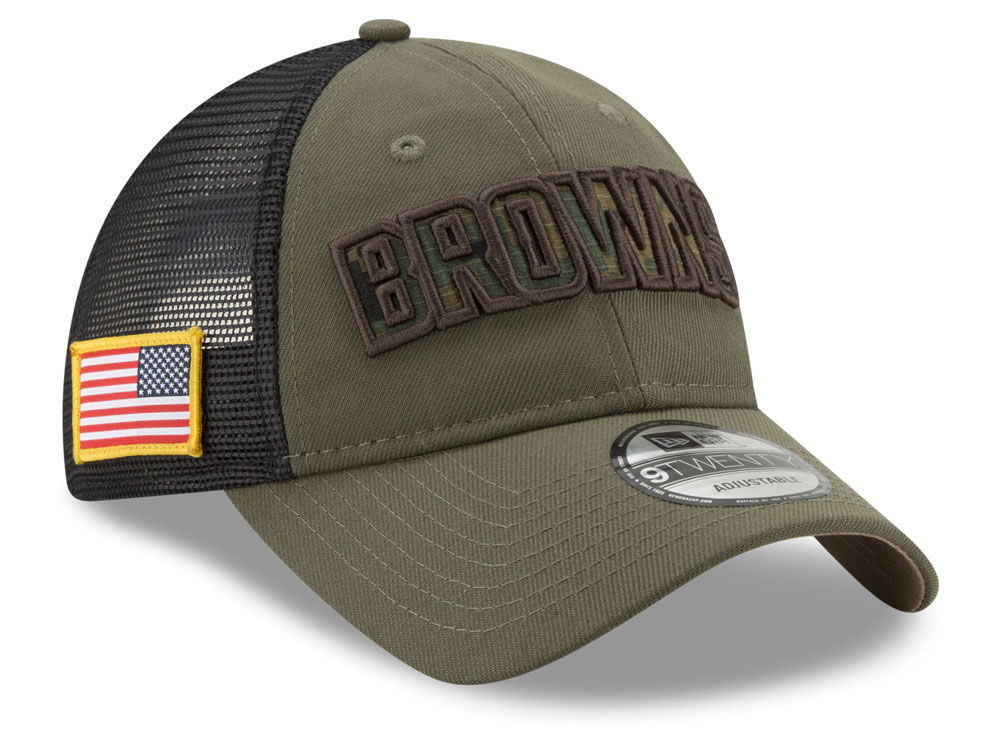 9811302dfeabd1 ... where to buy cleveland browns new era nfl camo service patch 9twenty  trucker cap ab161 e9de1