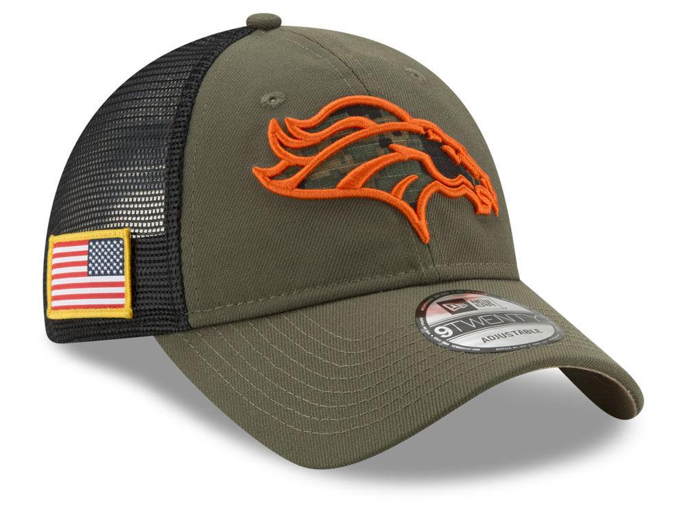 Denver Broncos New Era NFL Camo Service Patch 9TWENTY Trucker Cap ... 771007857