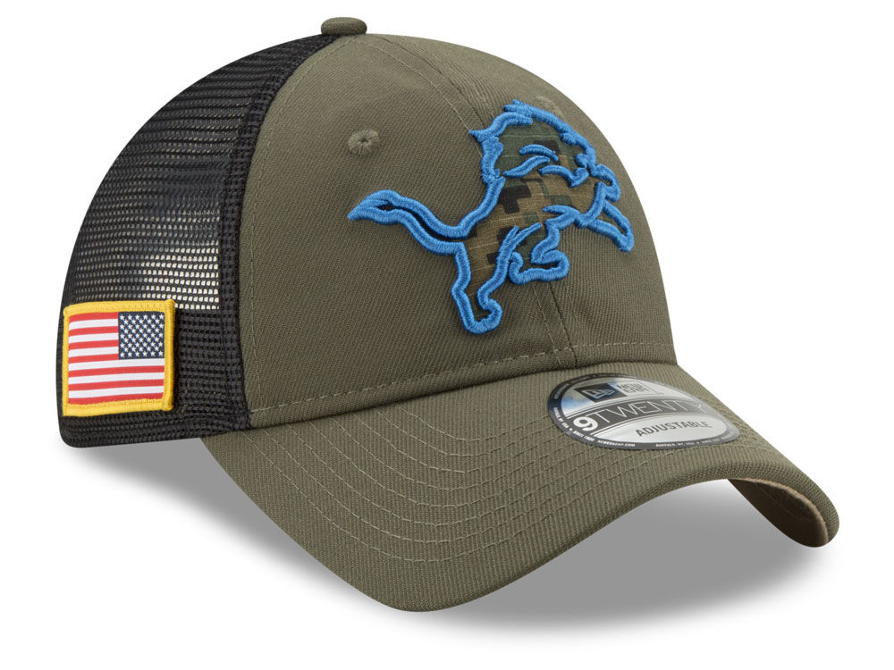 best website d6827 1cc08 ... real detroit lions new era nfl camo service patch 9twenty trucker cap  ed19b a5f8d ...