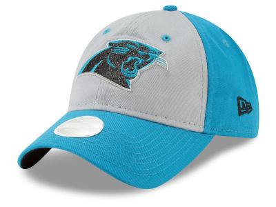 54845027ca6 Carolina Panthers New Era NFL Women s Gray Glitter 9TWENTY Cap