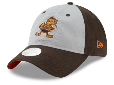 Cleveland Browns New Era NFL Women's Gray Glitter 9TWENTY Cap