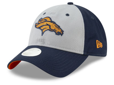 Denver Broncos New Era NFL Women's Gray Glitter 9TWENTY Cap