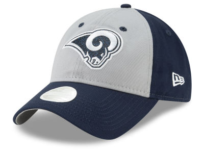 Los Angeles Rams New Era NFL Women's Gray Glitter 9TWENTY Cap