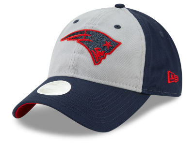 New England Patriots New Era NFL Women's Gray Glitter 9TWENTY Cap