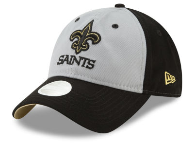 New Orleans Saints New Era NFL Women's Gray Glitter 9TWENTY Cap