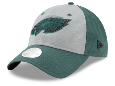 Philadelphia Eagles New Era NFL Women's Gray Glitter 9TWENTY Cap