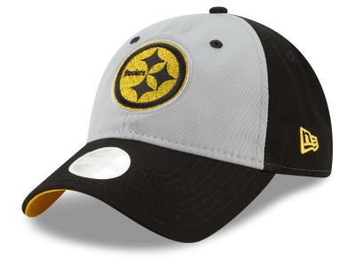 Pittsburgh Steelers New Era NFL Women's Gray Glitter 9TWENTY Cap