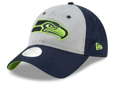 Seattle Seahawks New Era NFL Women's Gray Glitter 9TWENTY Cap