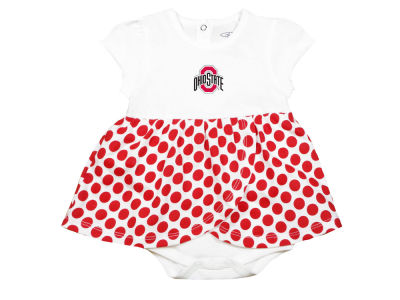 Ohio State Buckeyes Garb NCAA Girls Infant Megan Polka Dot Dress