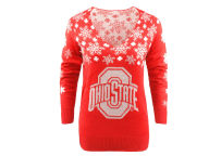Forever Collectibles NCAA Women's Snowflake Holiday Sweater Sweatshirts