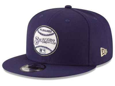 Milwaukee Brewers New Era MLB Vintage Circle 9FIFTY Snapback Cap