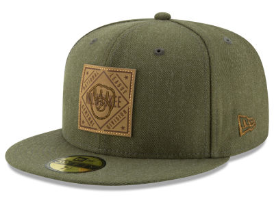 Milwaukee Brewers New Era MLB Leather Patch 59FIFTY Cap