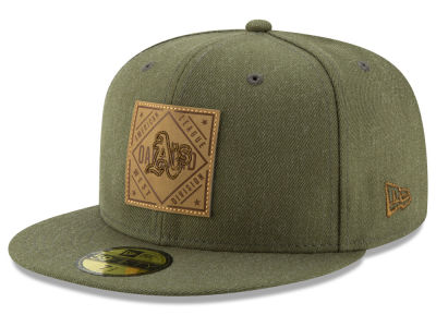 Oakland Athletics New Era MLB Leather Patch 59FIFTY Cap