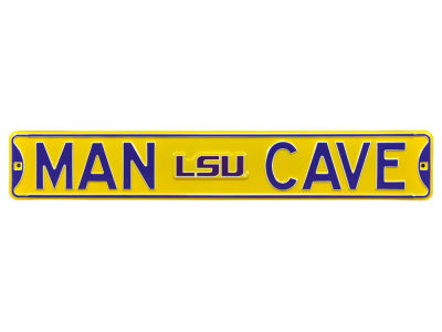 LSU Tigers Authentic Street Signs Authentic Street Sign - Man Cave V