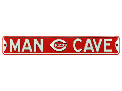 Cincinnati Reds Authentic Street Signs Authentic Street Sign - Man Cave V
