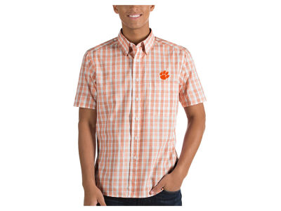 Clemson Tigers Antigua NCAA Men's Woven Crew Button Up