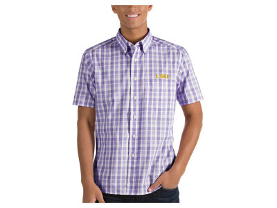 LSU Tigers Antigua NCAA Men's Woven Crew Button Up