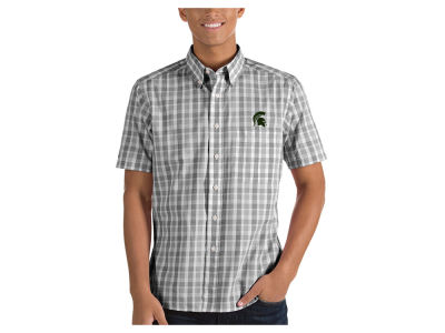 Michigan State Spartans Antigua NCAA Men's Woven Crew Button Up
