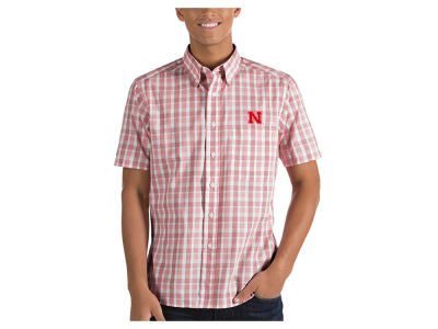 Nebraska Cornhuskers Antigua NCAA Men's Woven Crew Button Up