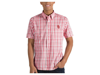 Oklahoma Sooners Antigua NCAA Men's Woven Crew Button Up