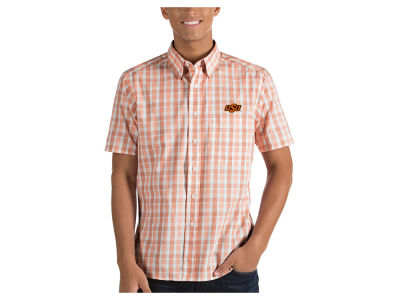 Oklahoma State Cowboys Antigua NCAA Men's Woven Crew Button Up