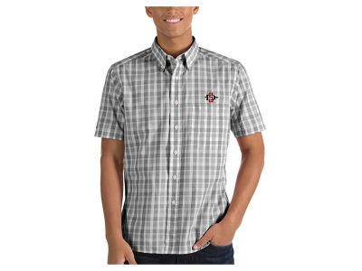 San Diego State Aztecs Antigua NCAA Men's Woven Crew Button Up