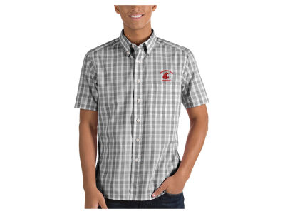 Washington State Cougars Antigua NCAA Men's Woven Crew Button Up