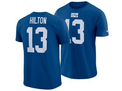 Nike T.Y. Hilton NFL Men's Pride Name and Number Wordmark T-shirt