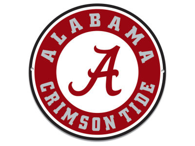 "Alabama Crimson Tide Authentic Street Signs 12"" Steel Logo Sign"