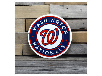 "Washington Nationals Authentic Street Signs 12"" Steel Logo Sign"