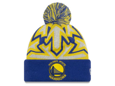 Golden State Warriors New Era NBA Glowflake Cuff Knit