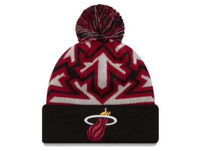 Miami Heat New Era NBA Glowflake Cuff Knit 87b0ba058b1a