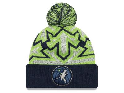 Minnesota Timberwolves New Era NBA Glowflake Cuff Knit ae2b8905bd1