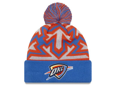 Oklahoma City Thunder New Era NBA Glowflake Cuff Knit