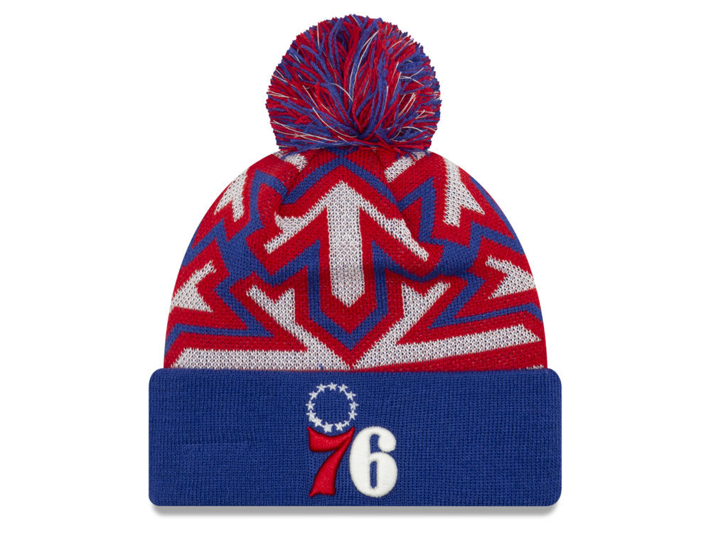 Philadelphia 76ers New Era NBA Glowflake Cuff Knit  ea41be58dde0